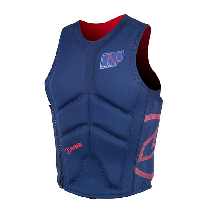 gilet-impact-wake-vest-side-zip-np-surf-c1-navy-red