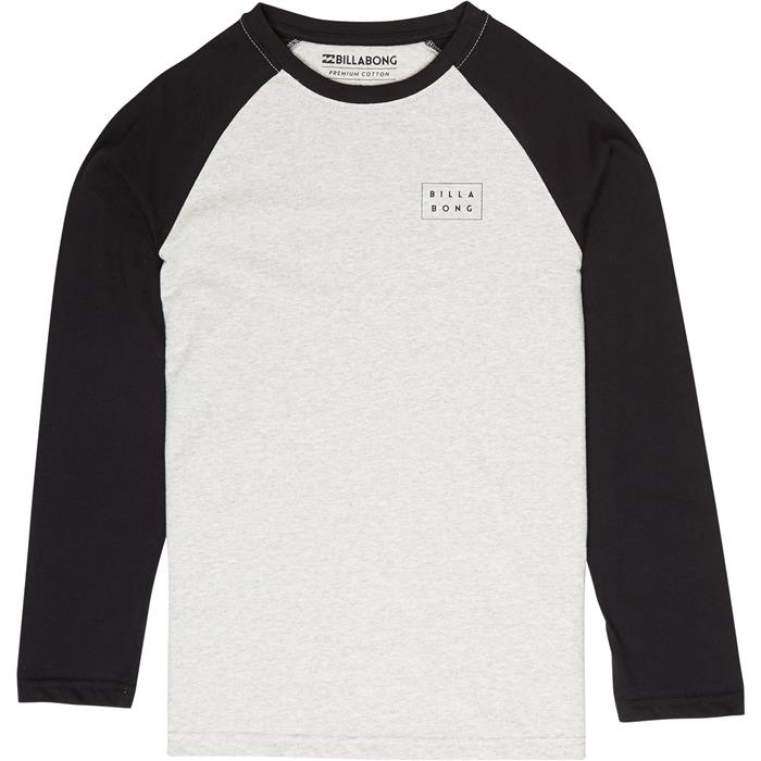 114183ef6 T-shirt Manche longue Junior BILLABONG DIE CUT TEE LS BOY 454 LT GREY  HEATHER | HOTMER