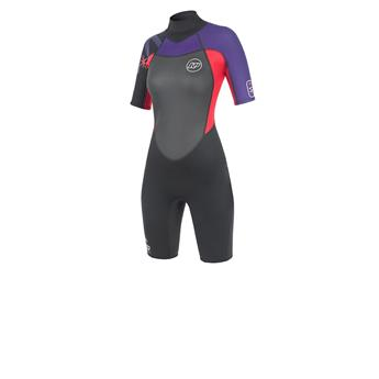 Shorty Femme SPARK S/S Shorty NP 2016 C2 Purple Red Black