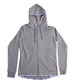 Sweat TIKHINE ASYMMETRICAL ZIP HOODIE Femme STARBOARD  Manches Longues Gris