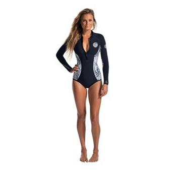 Shorty Femme SPRINGSUIT  G-Bomb L/S Spring (bikini cut) sublimated RIP CURL MARBLE