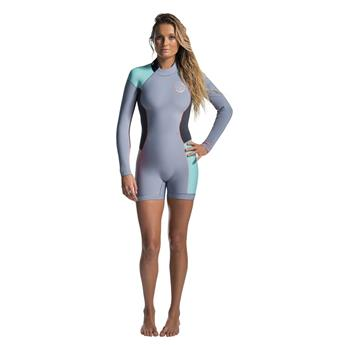 Shorty Femme SPRINGSUIT  Wms Dawn Patrol 2/2 L/SL Spring RIP CURL TURQUOISE