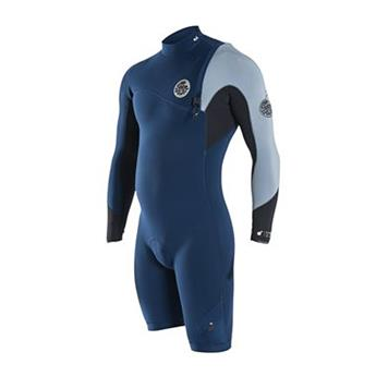 Shorty EBOMB PRO ZF  L/S SPRINGSUIT RIP CURL NAVY