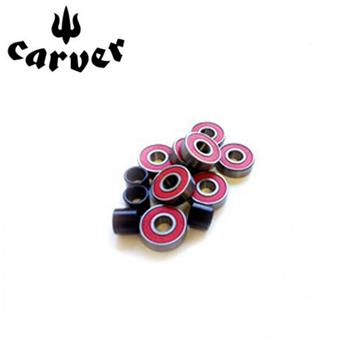 Roulement CARVER Bearing Abec 7 Red piled (8 + SPACERS)