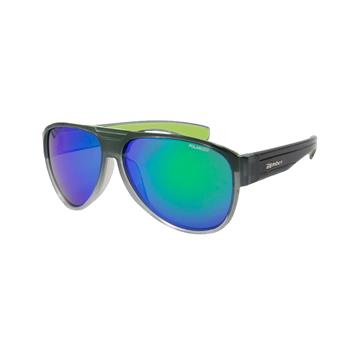 Lunette Flottante BEER BOMB 2 BOMBER EYEWEAR TN CRYSTAL SMOKE FRM / GREEN MIRROR POLARIZED  LENS / GREEN FOAM
