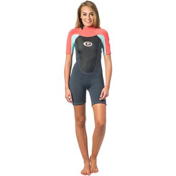 Shorty Femme OMEGA 1,5mm Back Zip RIPCURL CORAL (26)