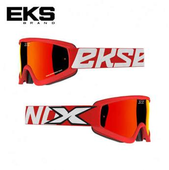 Masque moto, VTT EKS flat out mirror red / white / black
