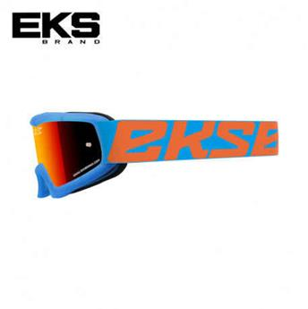 Masque moto, VTT EKS xgrom mirror cyan / flo orange