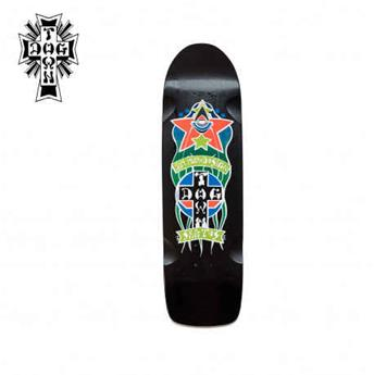 Deck skateboard DOGTOWN x SUICIDAL shape red dog triplane pool black 8.875