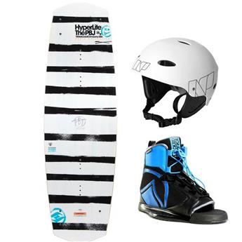 Pack Complet Wakeboard HYPERLITE PBJ Chausse LIQUID FORCE INDEX Casque NP Blanc 2017