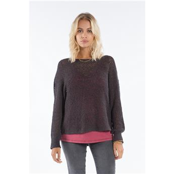 Pull Over Femme JUMPER SURFWEAR BILLABONG DANCE WITH ME 328 OFF BLACK