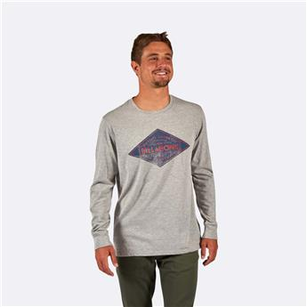 Tee Shirt Manche Longue SURFWEAR BILLABONG BOGUS TEE LS 9 GREY HEATHER