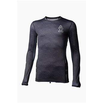 Lycra Manche Longue MENS LONGSLEEVE LYCRA STARBOARD Heather Grey