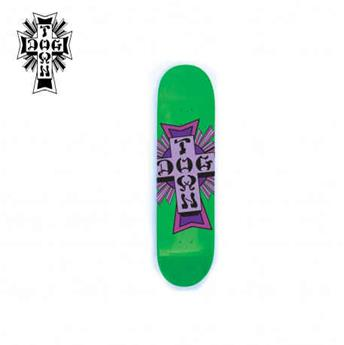 Deck skateboard DOGTOWN x SUICIDAL street cross logo green / purple 7.75