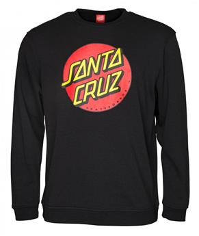 Sweat SANTA CRUZ CREW Classic Dot Black