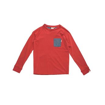 T-Shirt Manche Longue Junior CHAMBRAY POCKET LS TEE  RIP CURL 40 RED