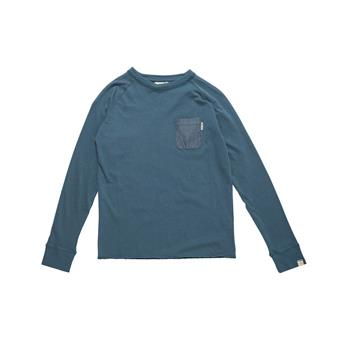 T-Shirt Manche Longue Junior CHAMBRAY POCKET LS TEE  RIP CURL 3385 INDIAN TEAL