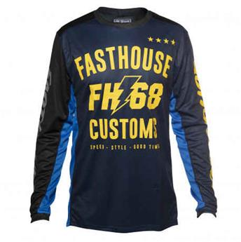 maillot moto FASTHOUSE  worx 68 blue yellow