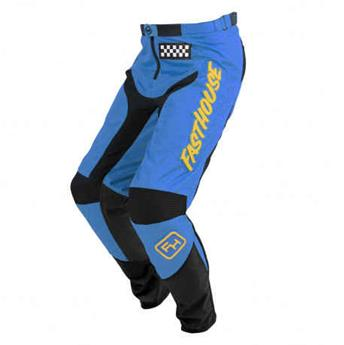 pantalon FASTHOUSE moto grindhouse blue yellow