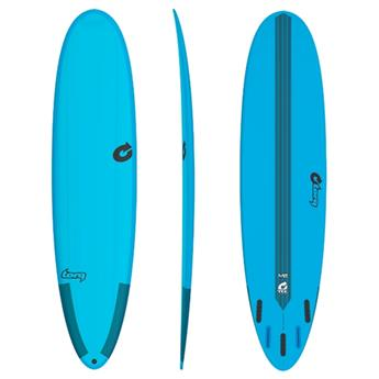 Board Surf Mini Malibu Funboard Epoxy M2 TEC TORQ White/Blue (PRP02)