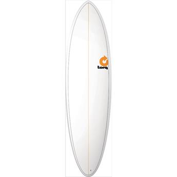 Board Surf Mini Malibu Funboard Epoxy FUN PINLINE TORQ TORQ White (V0000)
