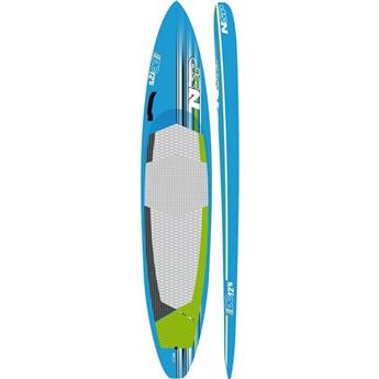 Board SUP Rigide Race Surf DC Brushed Carbon NSP Blue/Green (FC003) 12´6´´x28´´ 278,8 litres