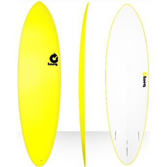 Board surf Mousse Mini Malibu FUN SOFT TORQ Yellow (A0000)