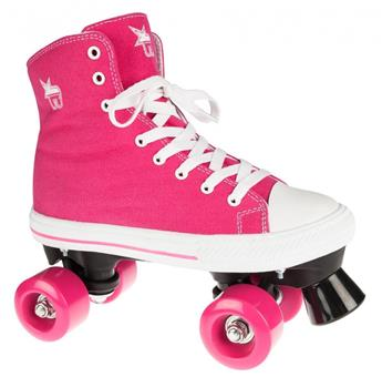 Patin complet Roller Quad  ROOKIE ROLLERSKATES Canvas High Pink