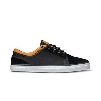 Chaussure DVS SHOES  Aversa Black/Tan Suede/Canvas Noir