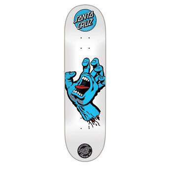 Plateau Skateboard SANTA CRUZ  Deck Screaming Hand Blue White 8´´ Blanc
