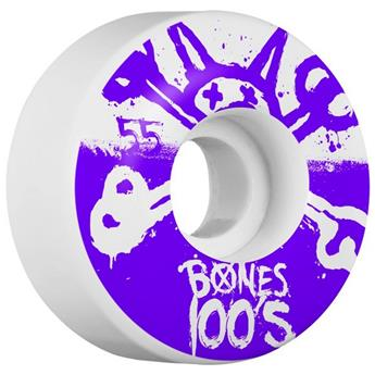 Roue Skateboard BONES  Wheels  Jeu De 4  100  039 S White 55mm X 34