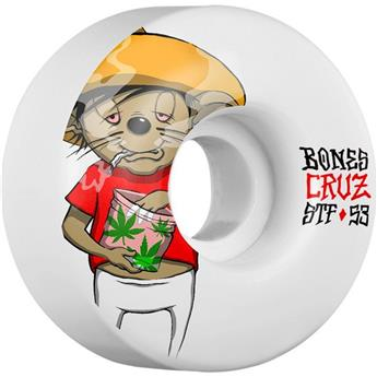 Roue Skateboard BONES  Wheels  Jeu De 4  Stf V2 Cruz Weedy 53mm