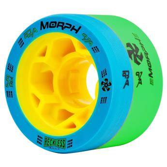 Roues Roller Derby RECKLESS WHEELS Morph 93A/97A Blue/Green