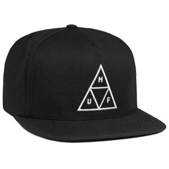 Casquette HUF  Essential Cap Triple Triangle Snapback Black
