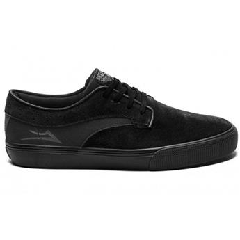 Chaussure LAKAI  Riley Hawk Black/Black Suede