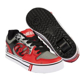 Chaussures à roulettes HEELYS Motion Plus Red/Black/Grey/Skulls