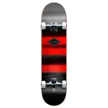 Skateboard Street complet GLOBE  Complete Full On Charcoal Chromantic Gris et rouge