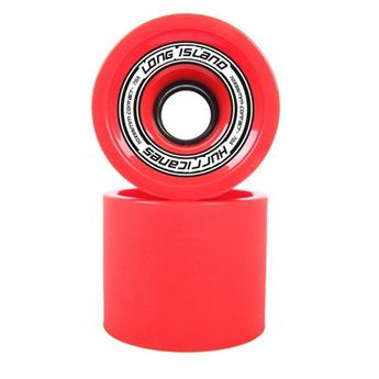 Roue Longboard LONG ISLAND LONGBOARDS Wheels Hurricanes 78A Rouge Rouge