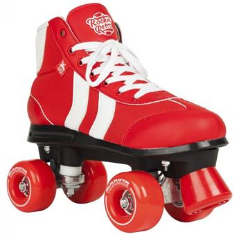 Patin complet Roller Quad  ROOKIE ROLLERSKATES Retro V2 Red White Roller Quad