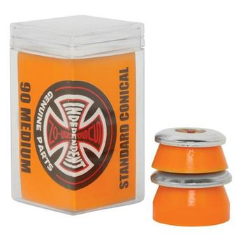 Bushing Skateboard INDEPENDENT  Bushings  Jeu De 4  Conical Medium 90a Orange