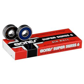 Roulements Skateboard BONES  Roulements  Jeu De 8  Swiss Super 6 Ball