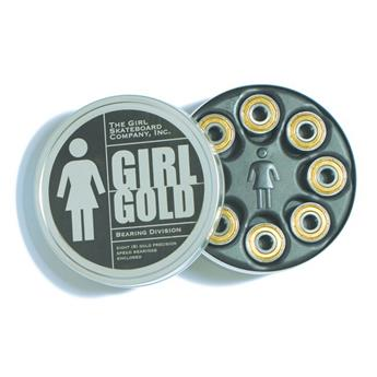 GIRL SKATEBOARDS  Roulements  Jeu De 8  Gold Abec 5