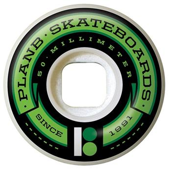 Roue Skateboard PLAN B Wheels  Jeu De 4  Team Banner Green 50mm