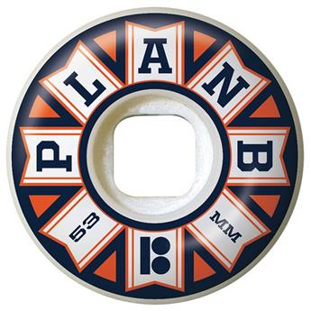 Roue Skateboard PLAN B Wheels  Jeu De 4  Team Flags Orange 53mm