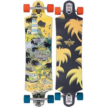 DUSTERS CALIFORNIA Complete Longboard Daze 38 Orange Blue