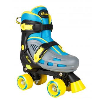 Patin complet Roller Quad  ROOKIE ROLLERSKATES Ajustable Duo Blue Yellow
