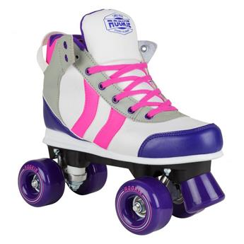Patin complet Roller Quad  ROOKIE ROLLERSKATES Deluxe Pink Grey Purple