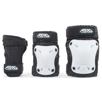 Set de protection complet REKD Recreational Triple Pad Set White