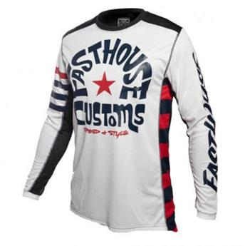 maillot moto FASTHOUSE  funkhouse white