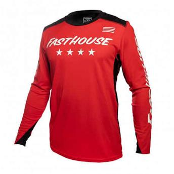 maillot moto FASTHOUSE  raven element red white